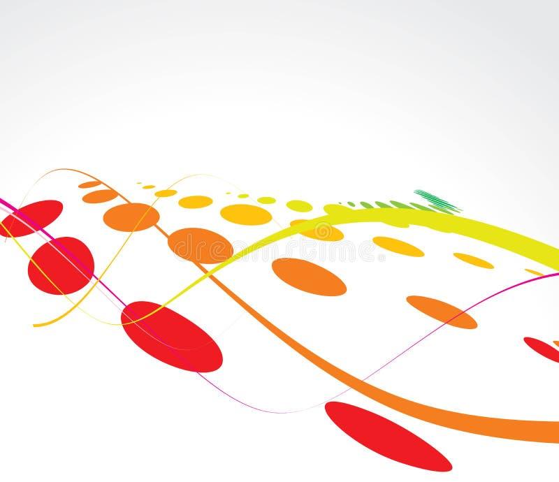 Fond multicolore d'image tramée d'onde illustration libre de droits