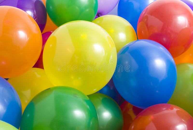 Fond multicolore de ballons photographie stock libre de droits