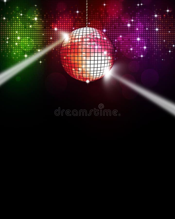 Fond multicolore de disco de musique illustration stock