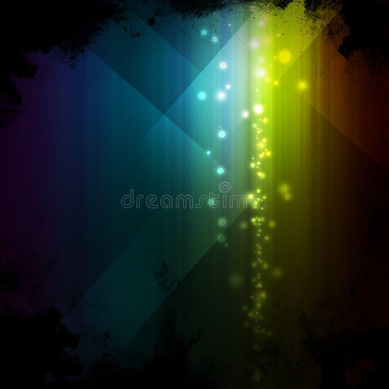 Fond multicolore de grunge de lumières illustration de vecteur