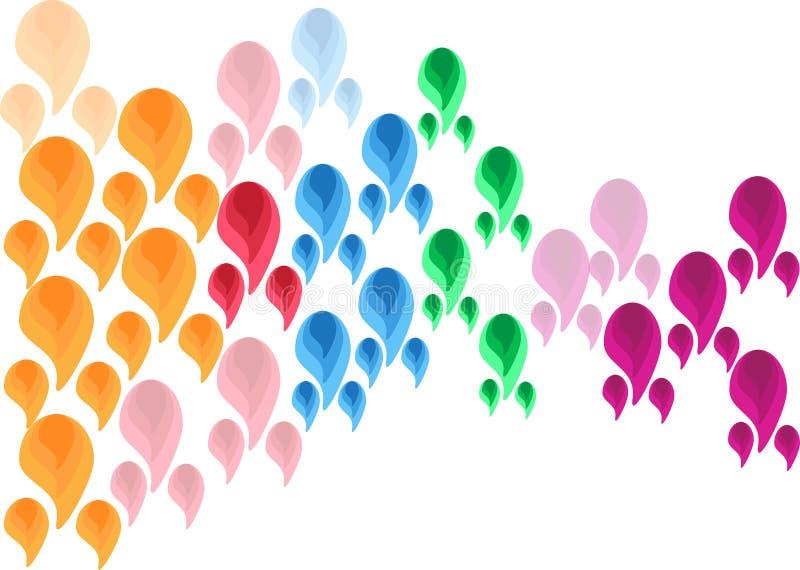 Fond multicolore de Paisley de modèle floral abstrait de forme illustration libre de droits