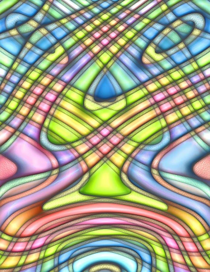Fond multicolore de sauter-art génial illustration stock