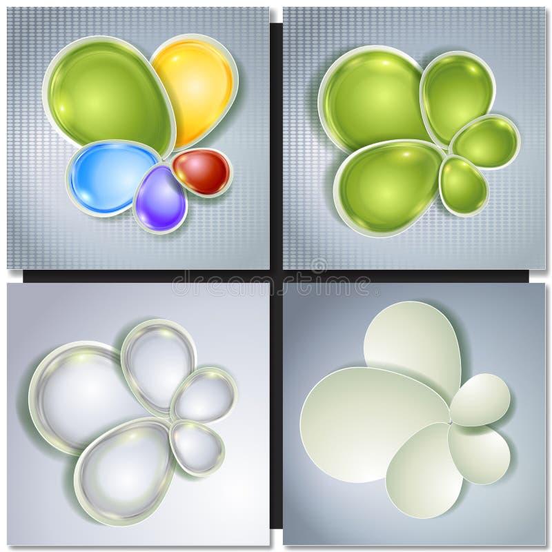 Fond multicolore de vecteur abstrait de concept illustration libre de droits