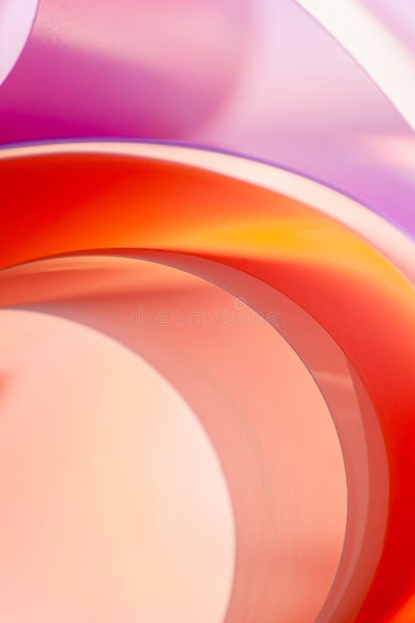 Fond multicolore des éléments arrondis avec le débordement de couleur de gradient Photo verticale image stock