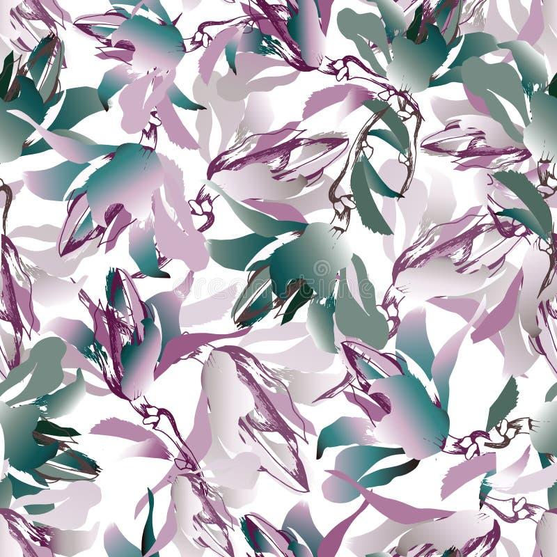 Fond multicolore des fleurs sur un fond blanc Aquarelle colorée, texture sans fin pour le tissu, papier peint, tuile, papier illustration libre de droits