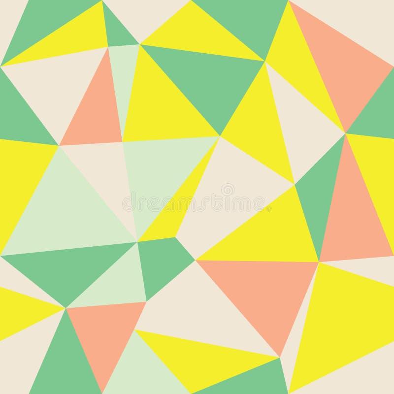 Fond multicolore géométrique de triangle d'abrégé sur vecteur Approprié au textile, à l'enveloppe de cadeau et au papier peint illustration de vecteur