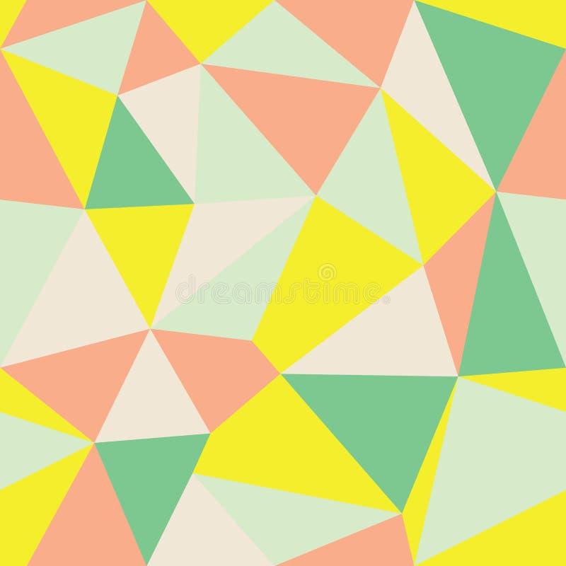 Fond multicolore géométrique Ver2 de triangle d'abrégé sur vecteur Approprié au textile, à l'enveloppe de cadeau et au papier pei illustration de vecteur