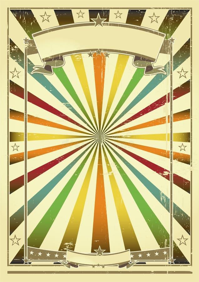 Fond multicolore rétro illustration libre de droits