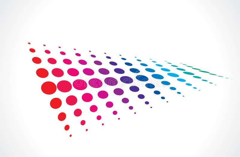 Fond multicolore tramé illustration de vecteur