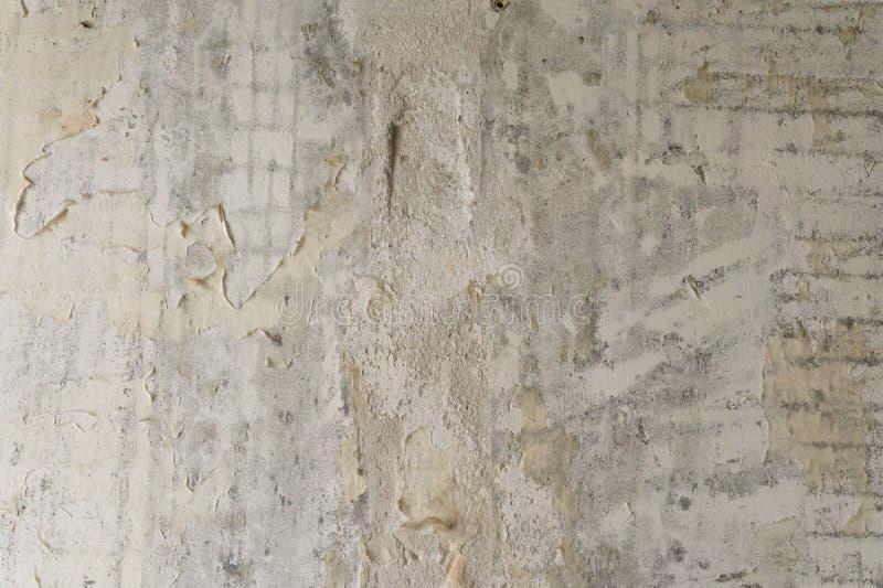 Fond Mur sale Mur en béton Mur gris non peint images stock