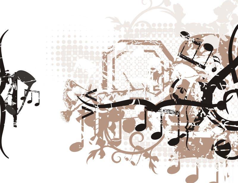 Fond musical illustration stock