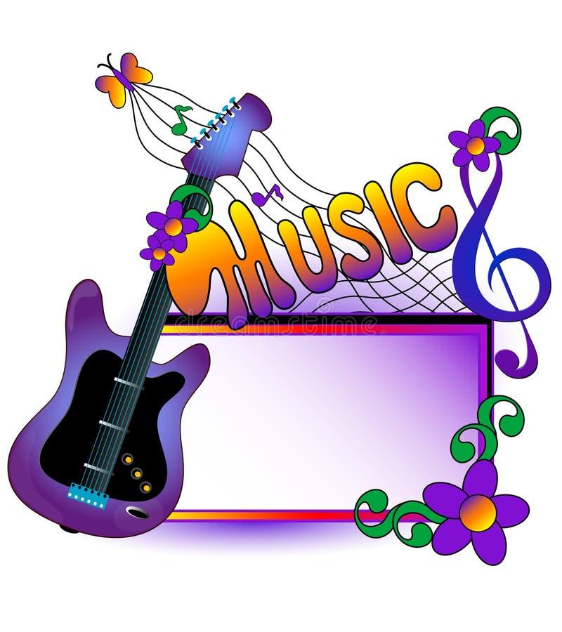 Fond musical. illustration de vecteur