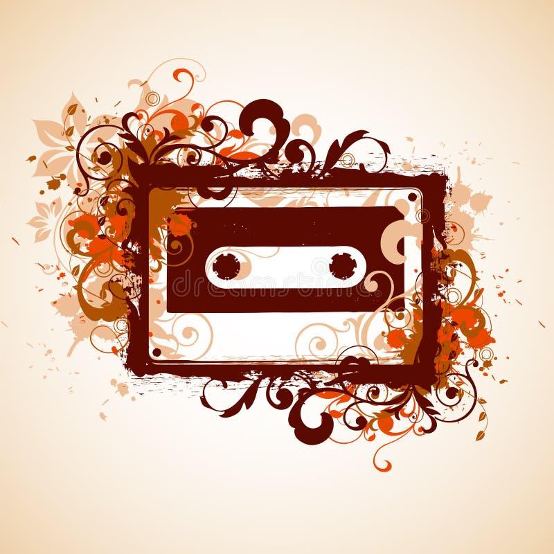 Fond musical illustration libre de droits