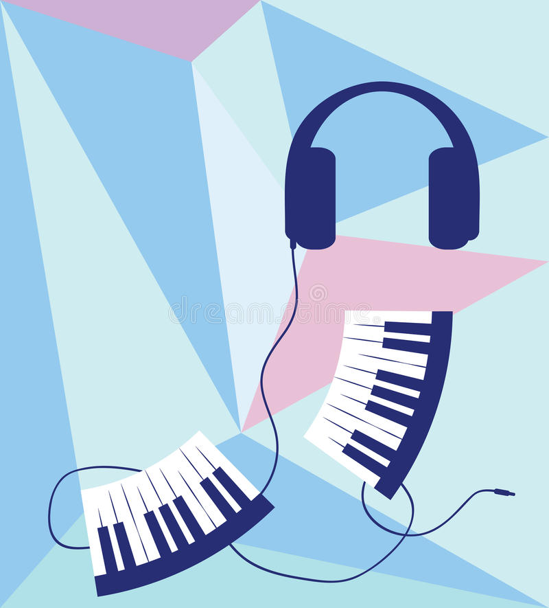 Fond musical abstrait illustration stock
