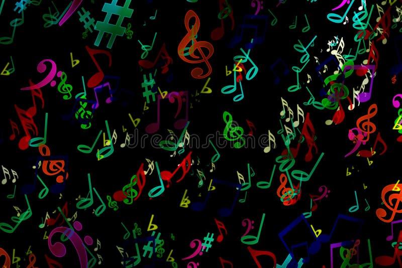 Fond musical abstrait dans le style de graffiti notes Musique Fa photos stock