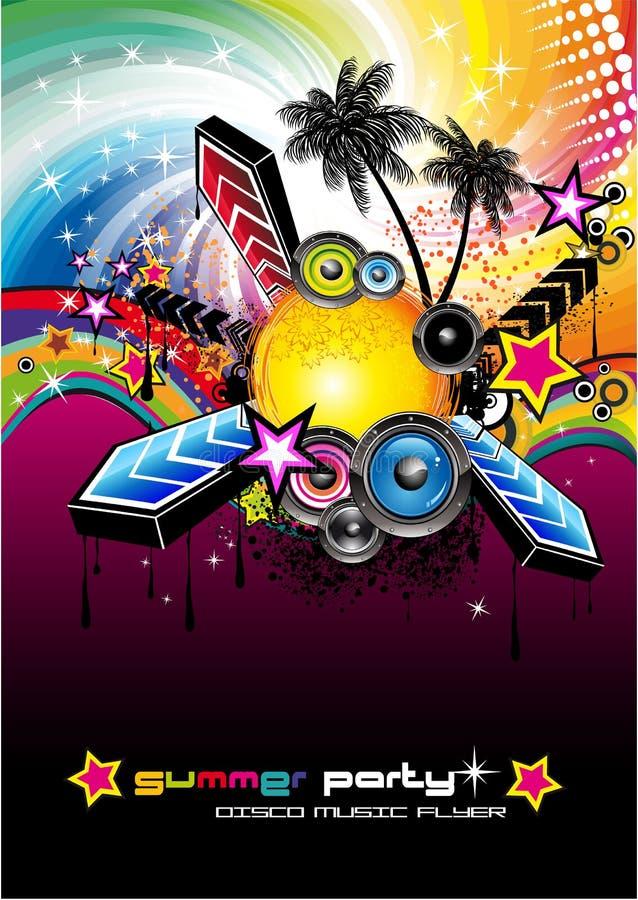 Fond musical latin tropical d'événement illustration stock