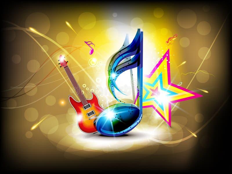 Fond musical lustré abstrait illustration de vecteur