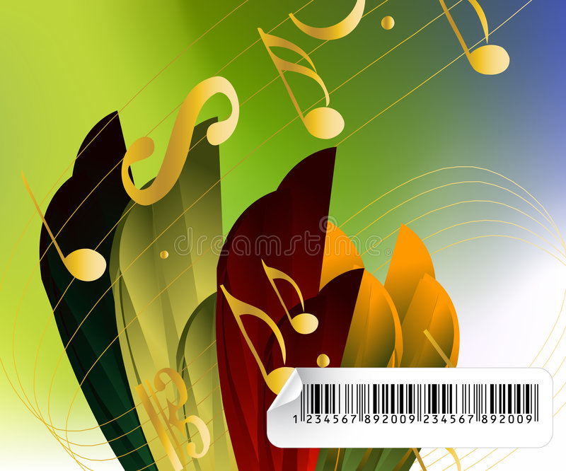 Fond musical pertinent illustration de vecteur