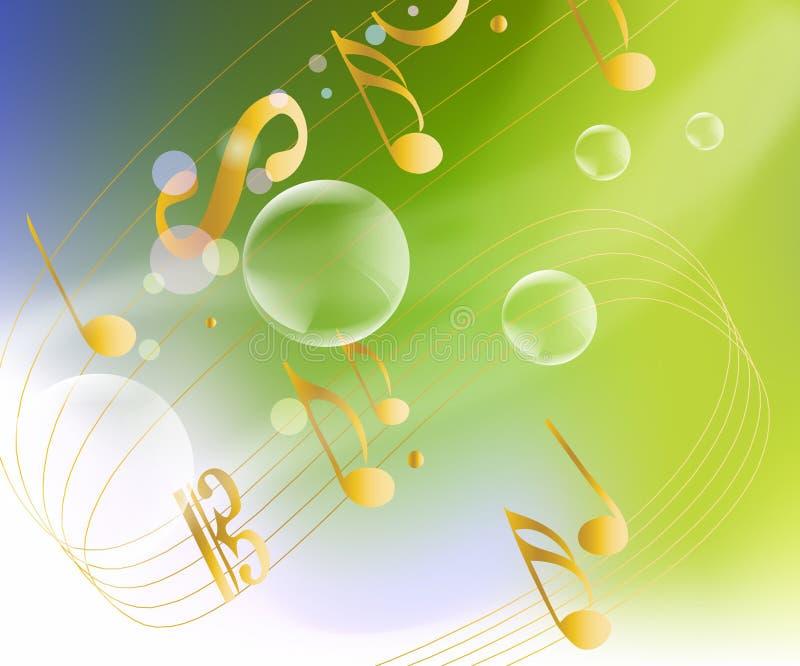 Fond musical pertinent illustration stock