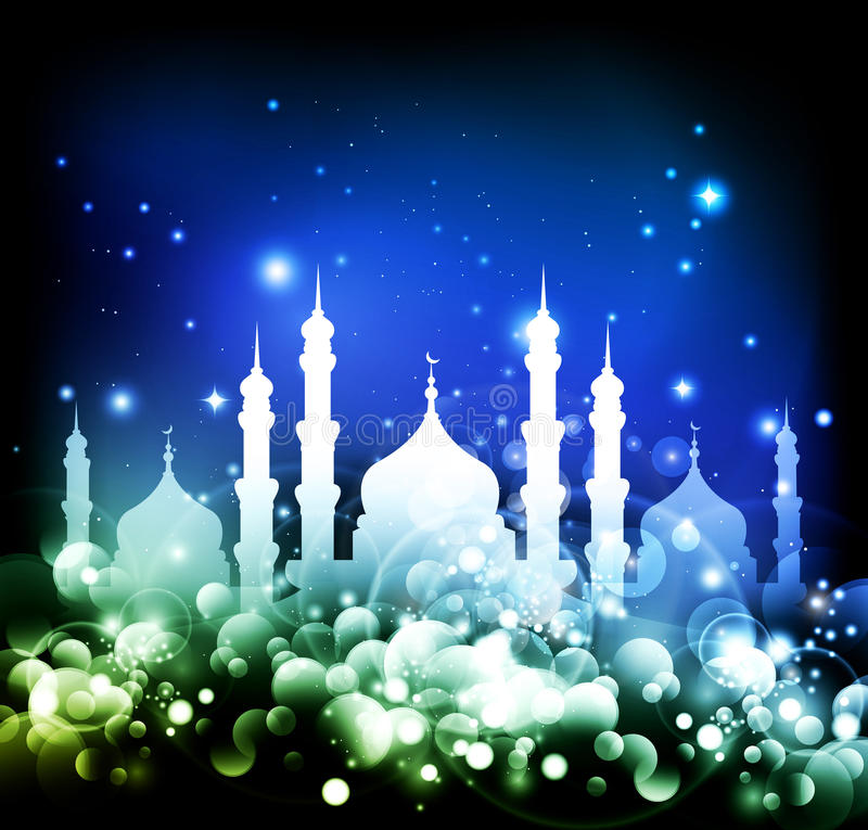 Fond musulman religieux abstrait illustration stock