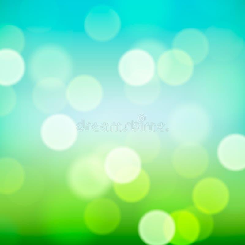 Fond naturel brouillé coloré lumineux illustration libre de droits