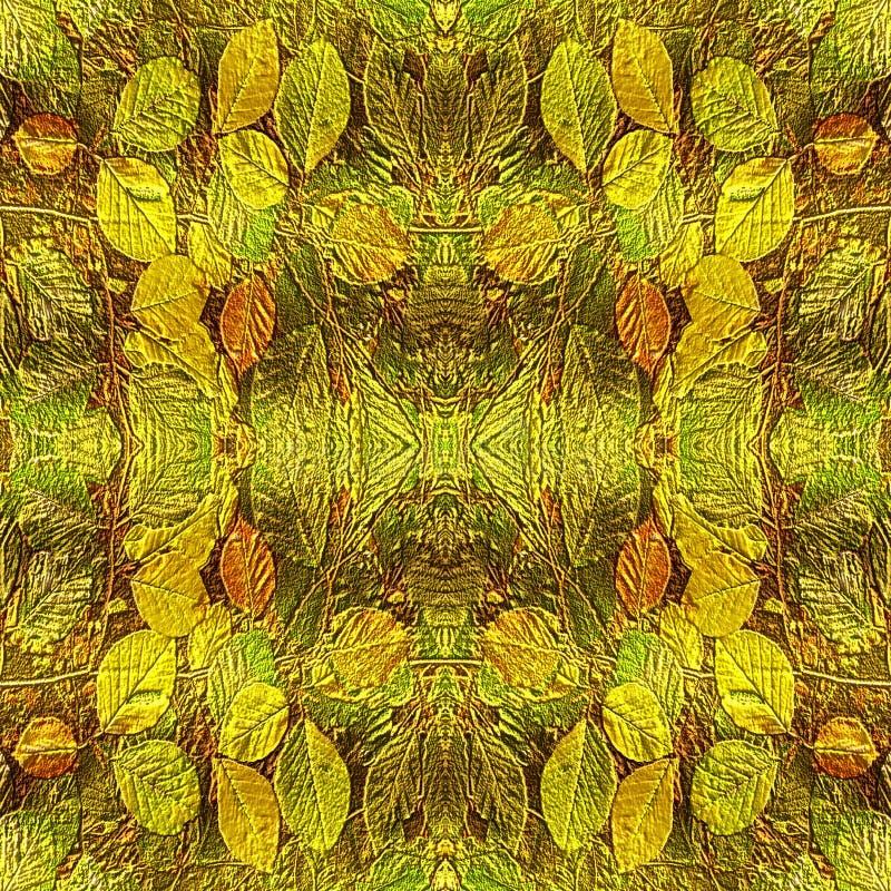 Fond naturel d'automne des feuilles de relief de soulagement illustration de vecteur