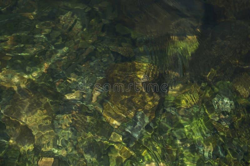 Fond naturel de texture de l'eau de rivière de montagne photographie stock libre de droits