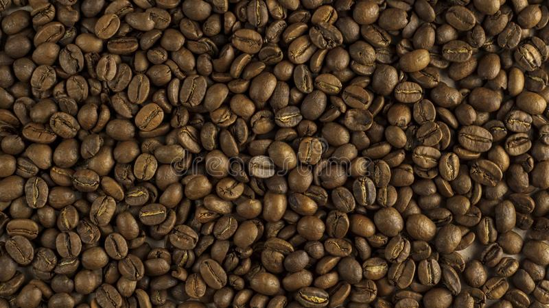 Fond naturel des grains de café rôtis photos libres de droits