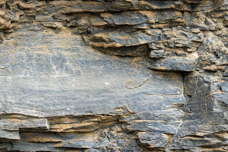 Fond naturel Texture des couches grises d'ardoise photographie stock