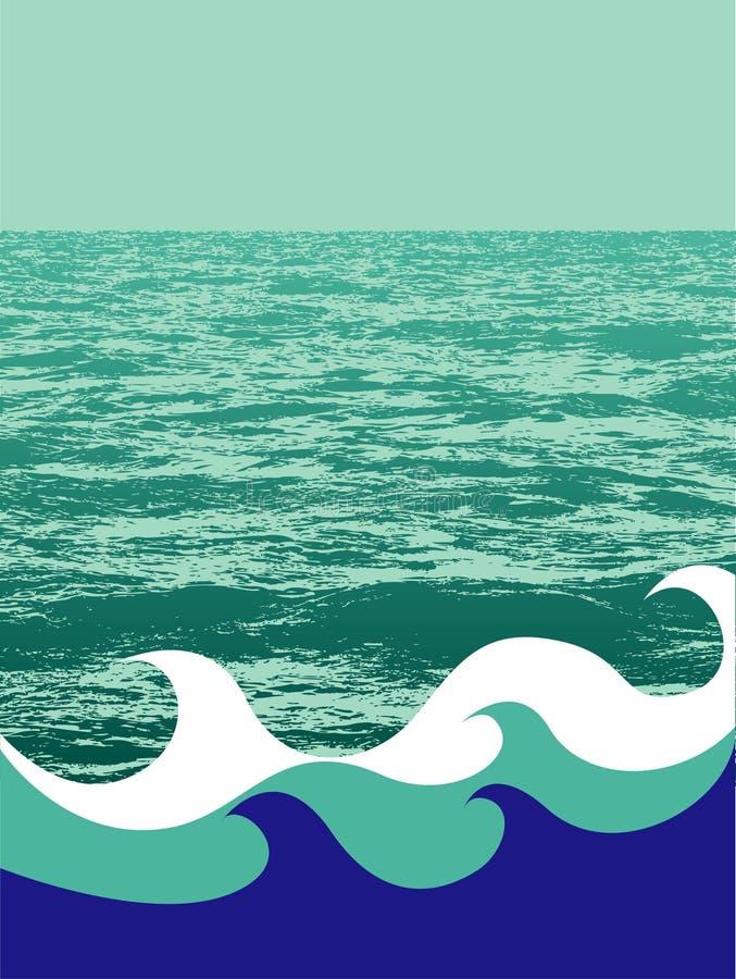 Fond nautique illustration de vecteur