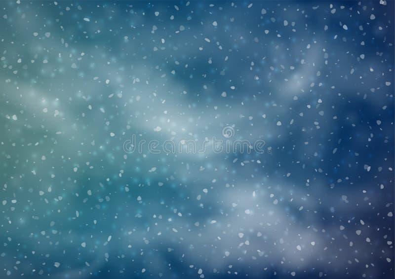 Fond neigeux abstrait illustration stock