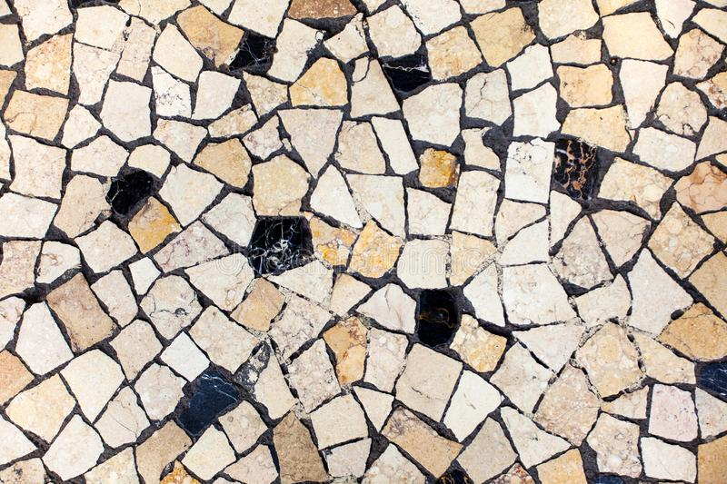 Fond neutre de carreaux de céramique de mosaïque photo stock