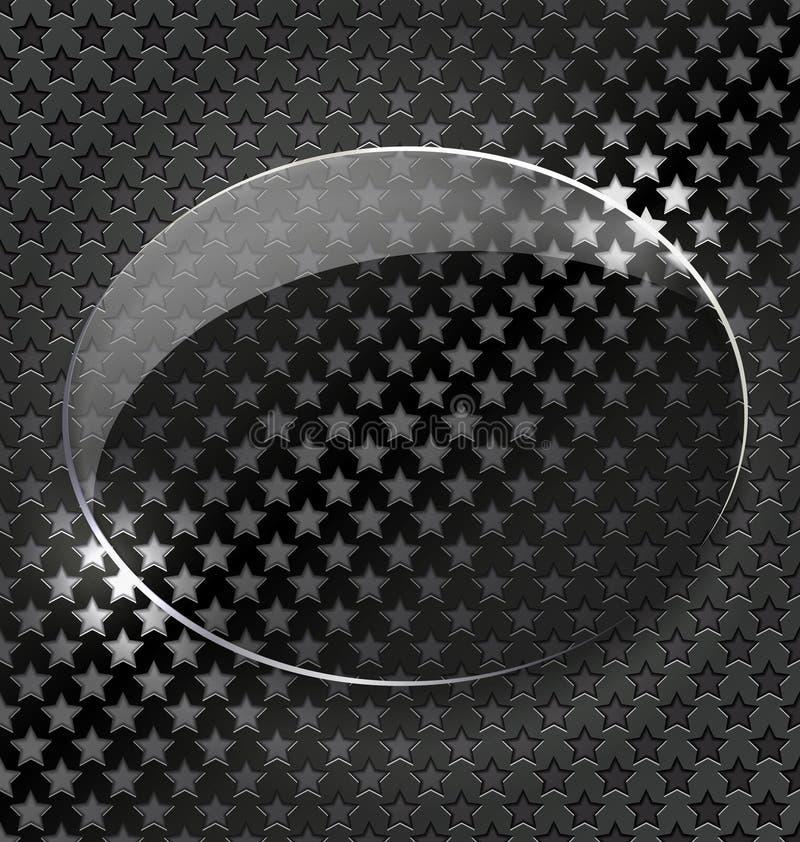 Fond noir abstrait avec l'élément/cadre en verre illustration de vecteur