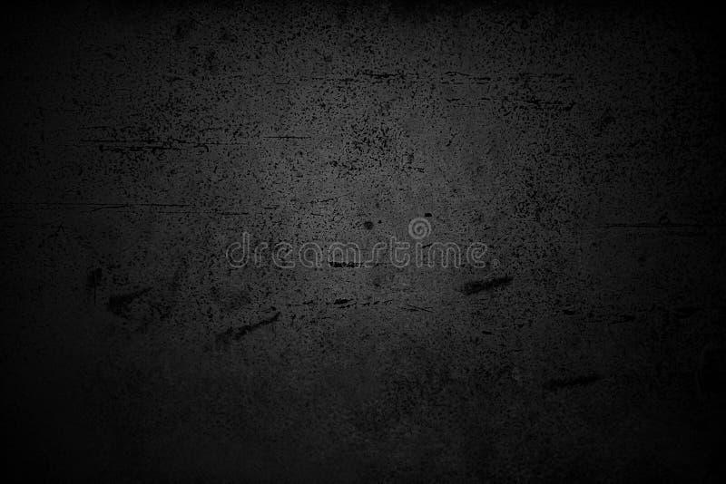 Fond noir abstrait avec la texture âgée affligée approximative, fond gris grunge de couleur de charbon de bois pour des cartes de photos libres de droits