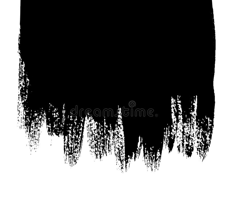 Fond noir avec des égouttements de peinture illustration de vecteur