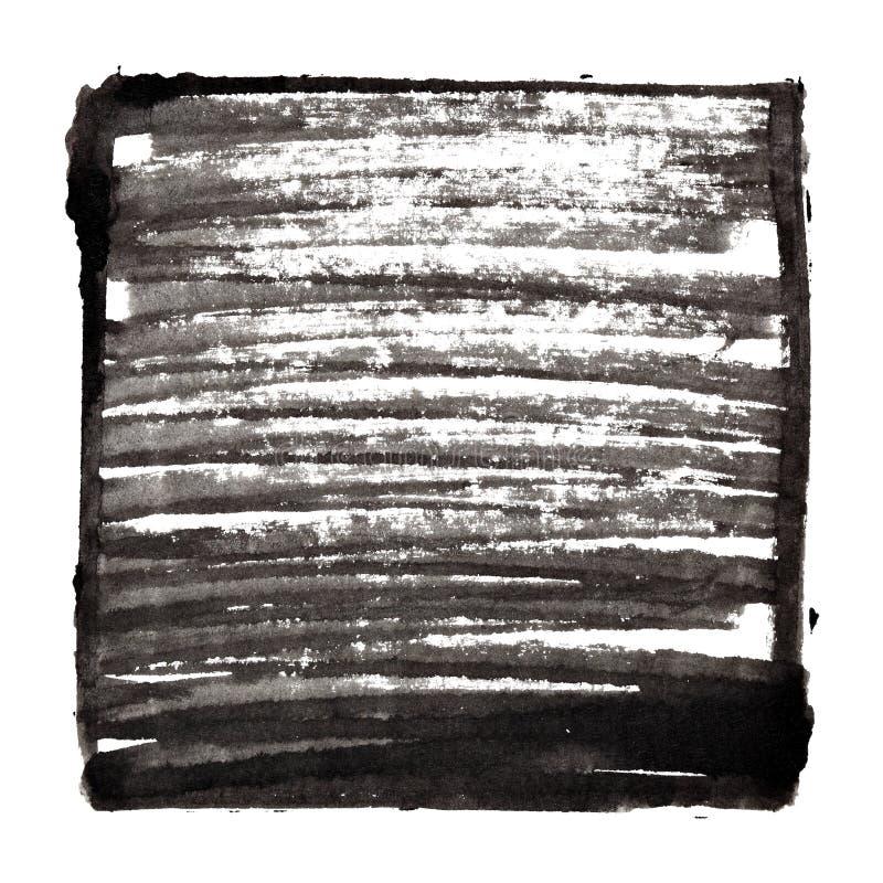 Fond noir avec le cadre et l'ombrage illustration de vecteur