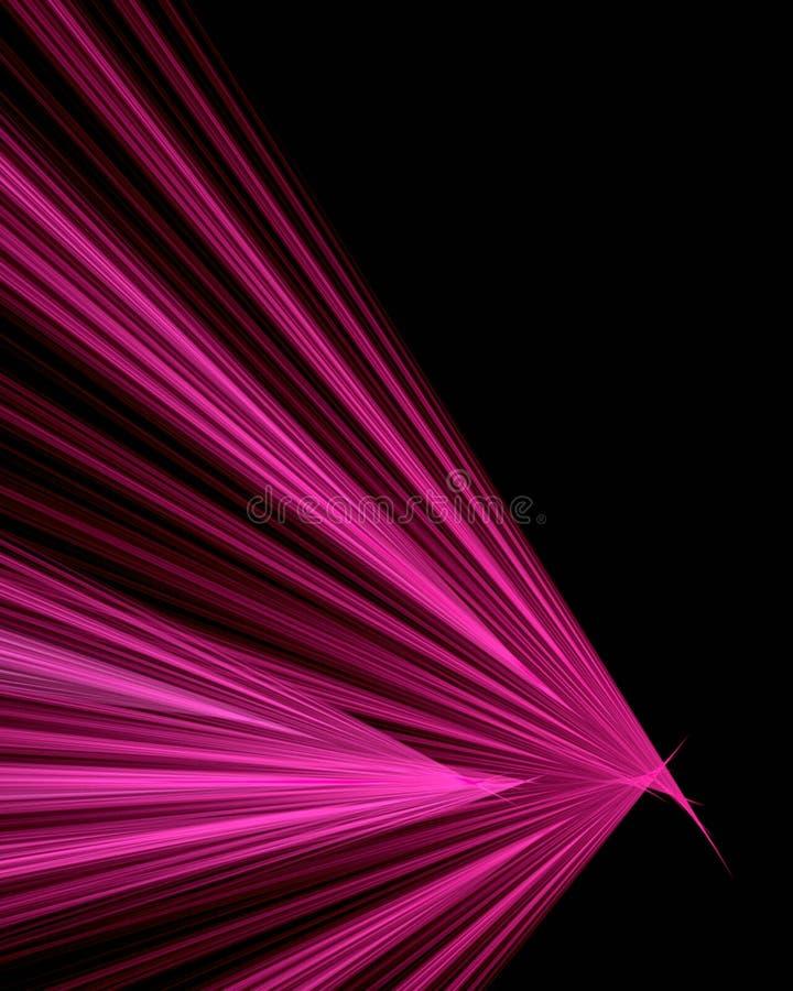 Fond noir avec les rayons attrayants illustration stock