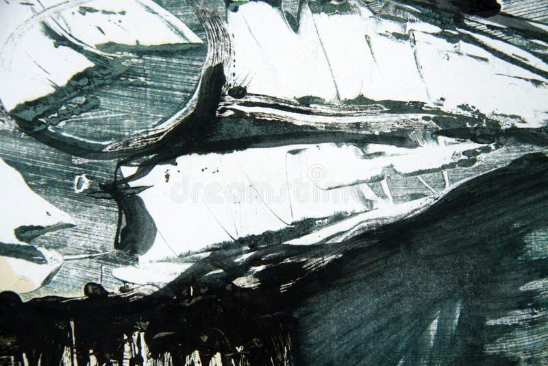 Fond noir blanc vert bleu de courses de pinceau image libre de droits