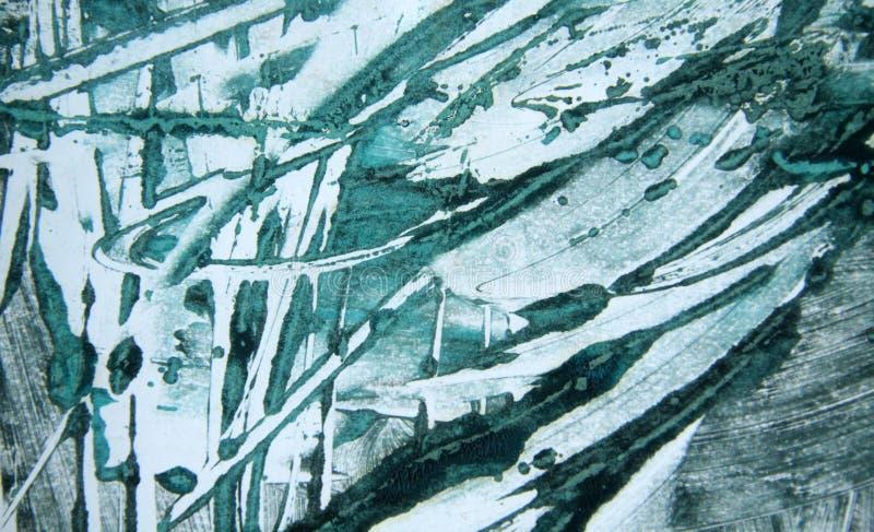 Fond noir blanc vert bleu de courses de pinceau photos stock