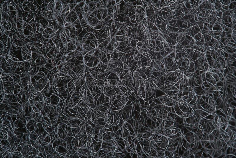 Fond noir d'instruction-macro de boucle de Velcro image libre de droits