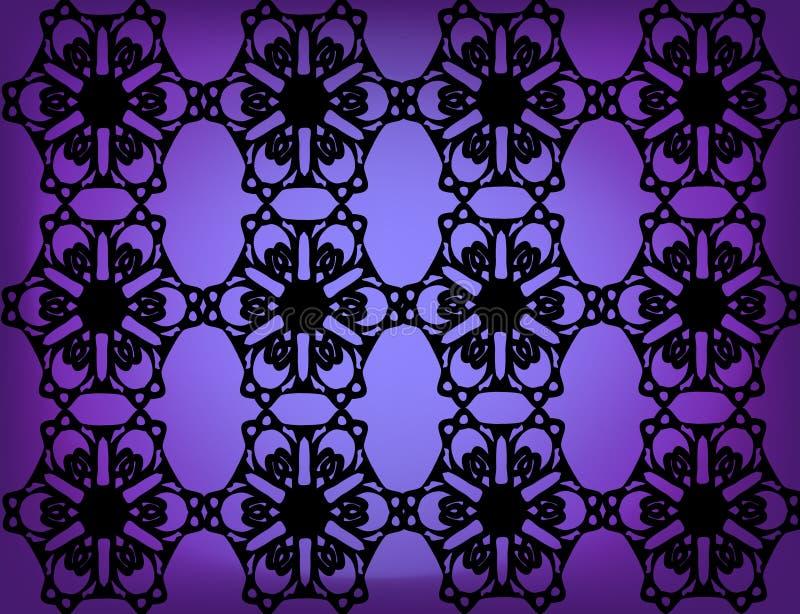 Fond noir de lacet illustration de vecteur