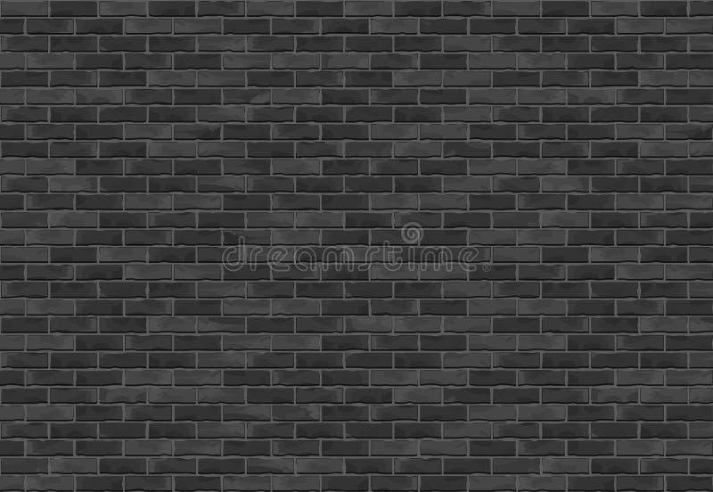 Fond noir de mur de briques illustration stock