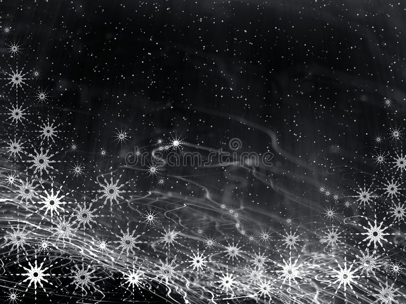 Fond noir de Noël illustration stock