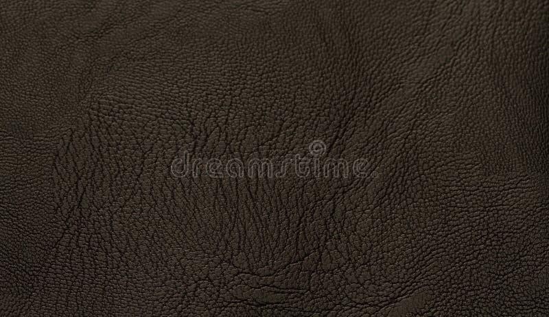 Fond noir de texsture de cuir véritable avec la surface de grain photos stock