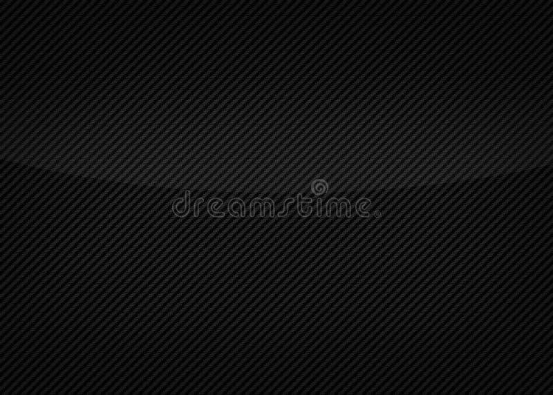 Fond noir de texture de fibre de carbone illustration stock