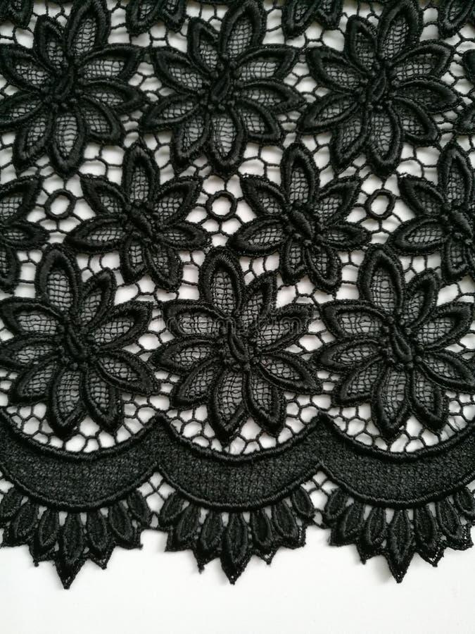 Fond noir de texture de dentelle images stock