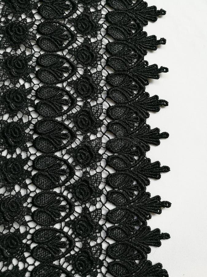 Fond noir de texture de dentelle image libre de droits