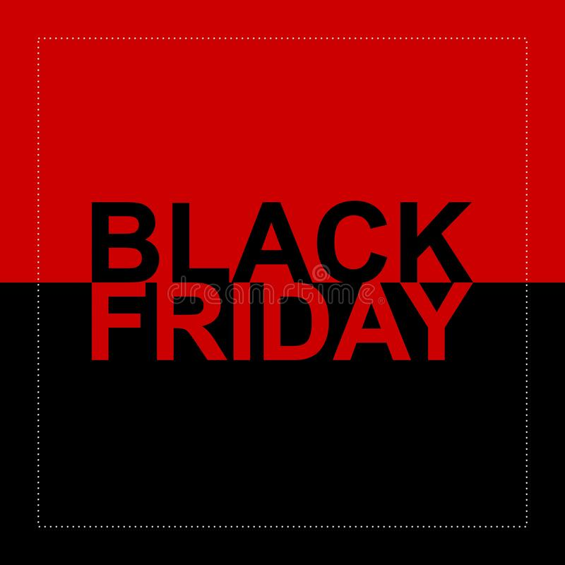Fond noir 12 de vecteur de vente de vendredi illustration libre de droits