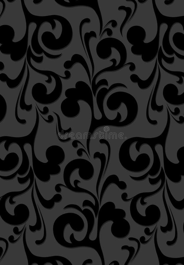 Fond noir de velours illustration de vecteur