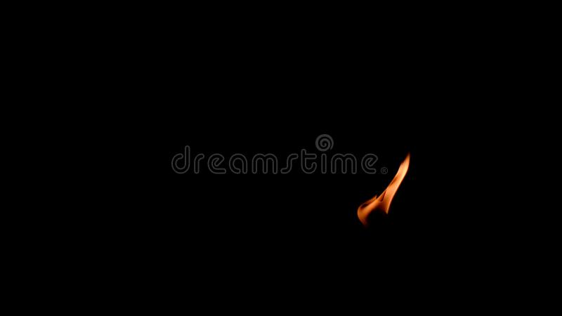 Fond noir du feu abstrait de flamme image libre de droits